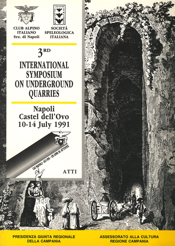 Copertina del libro 3rd International Symposium on Underground Quarries